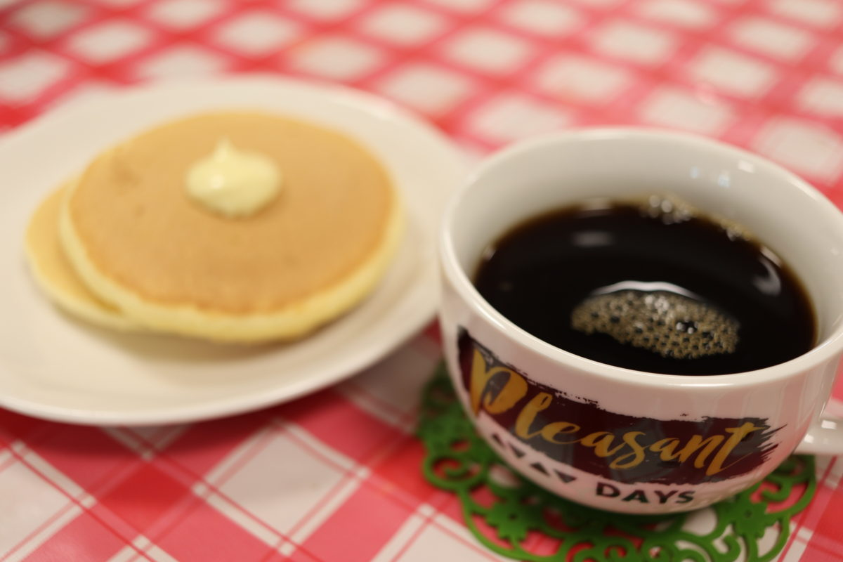 【長居公園】純喫茶ラフィン(お誕生日会)珈琲とホットケーキ編